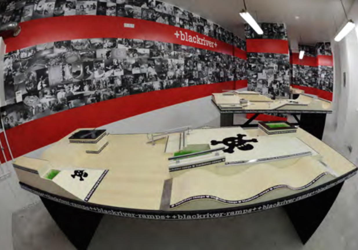 Fingerboard park features on display at Blackriver''s store in Berlin