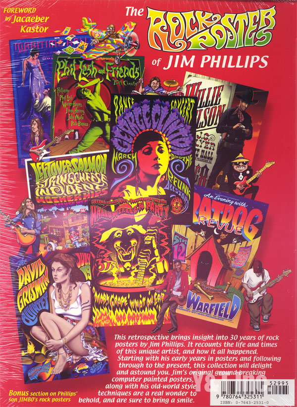 ROCK POSTERS OF JIM PHILLIPS BOOK 1