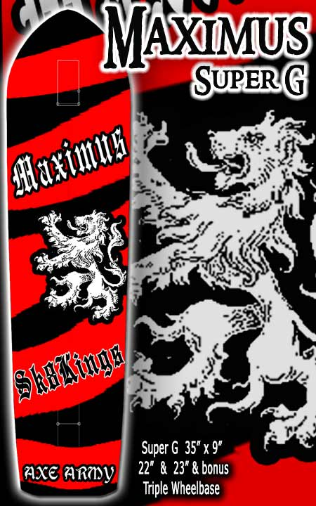 SK8KINGS SLALOM AXE MAXIMUS SUPER G 3