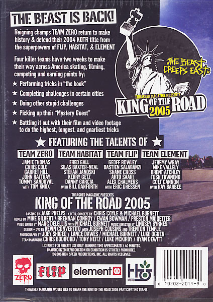THRASHER KING OF THE ROAD 2005 2