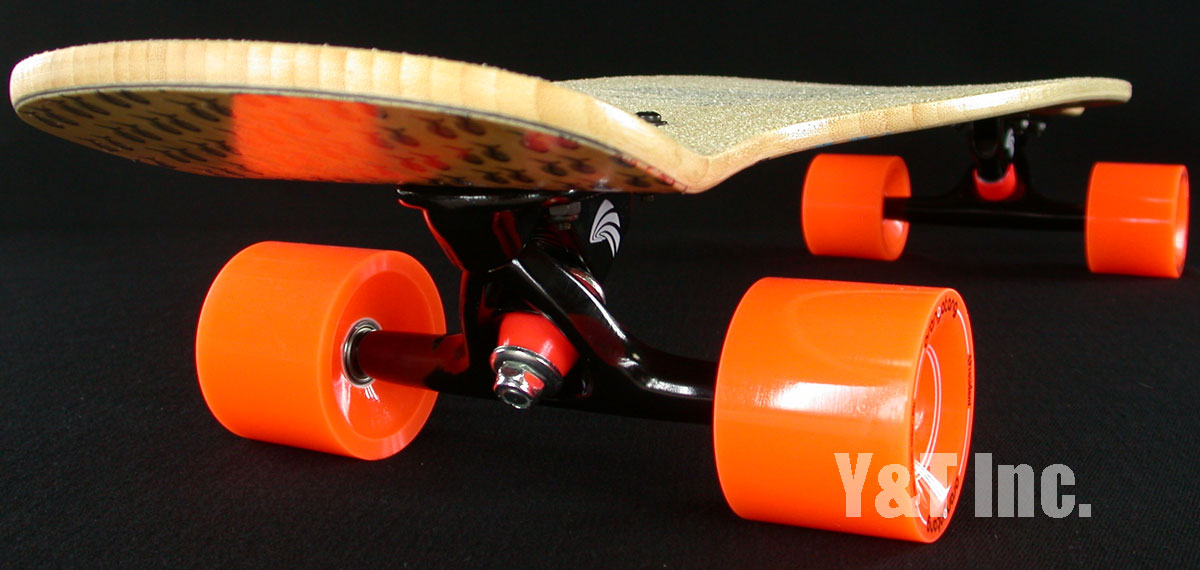 LOADED CEVICHE BAMBOO35 PARIS BLACK BLACK ORANGATANG 70mm 80a 5