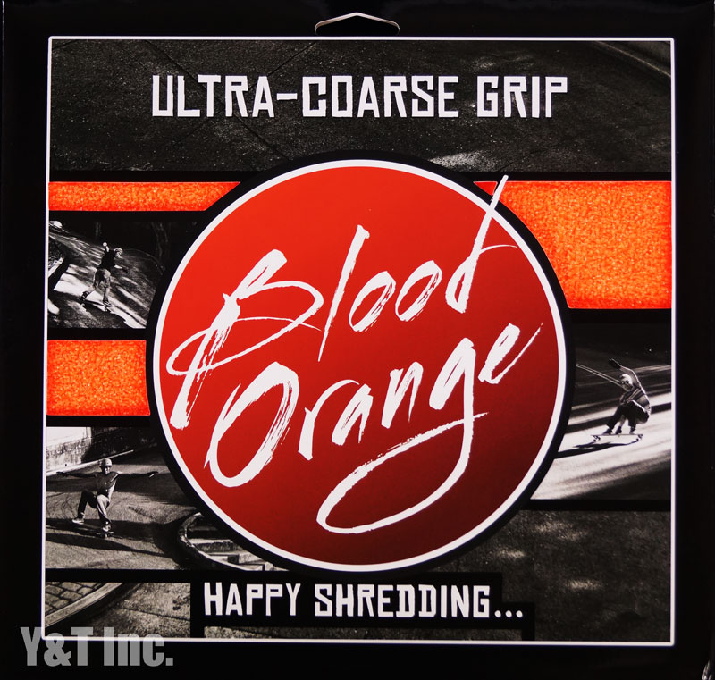 BLOOD ORANGE GRIP X-COARSE 4PAC NEON ORANGE 1