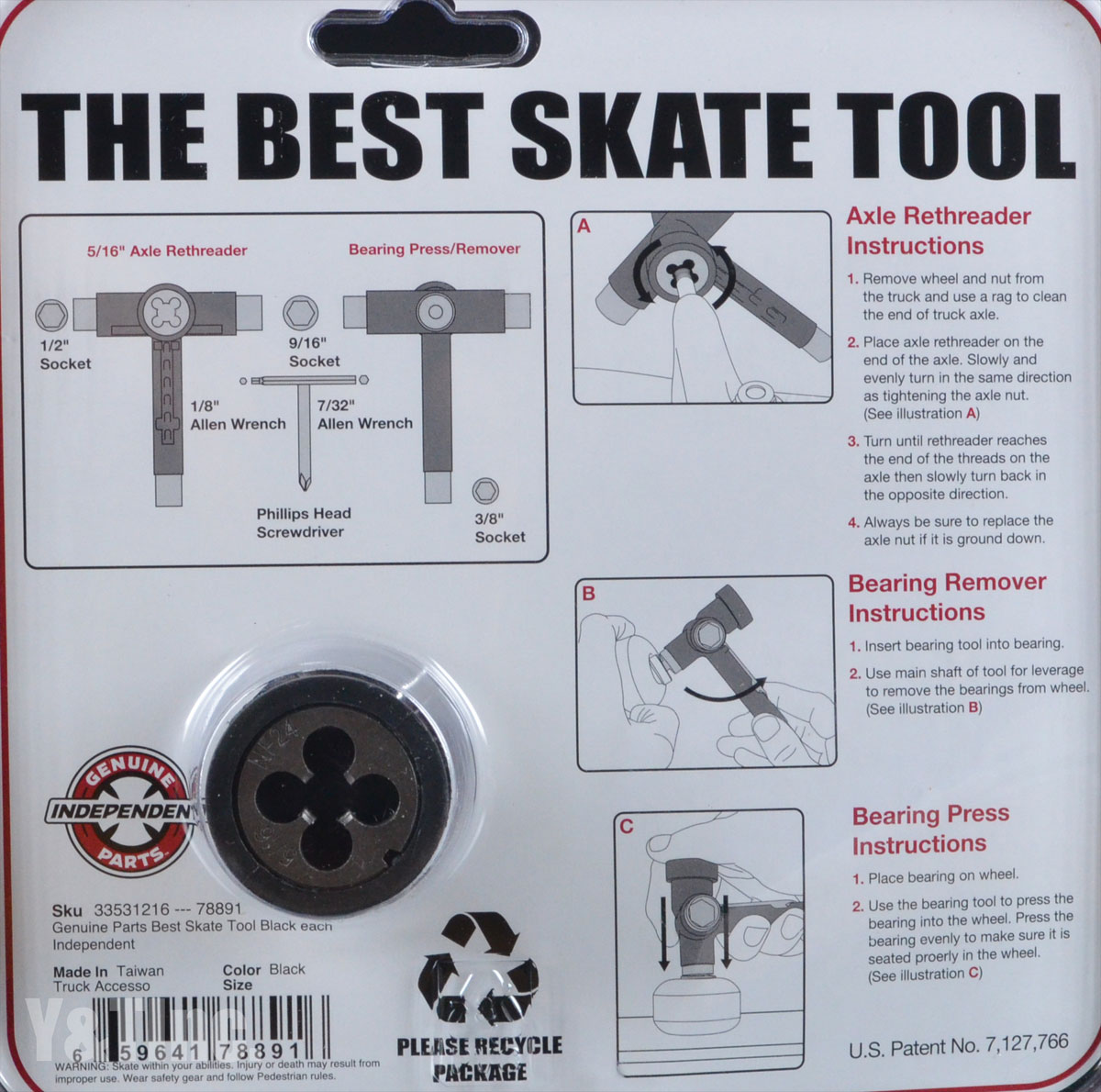 INDEPENDENT BEST SKATE TOOL BLACK 3