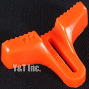 RIPTIDE FOOTSTOP IN-SIDE CONCAVE ORANGE