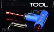 SILVER TOOL BLUE RED