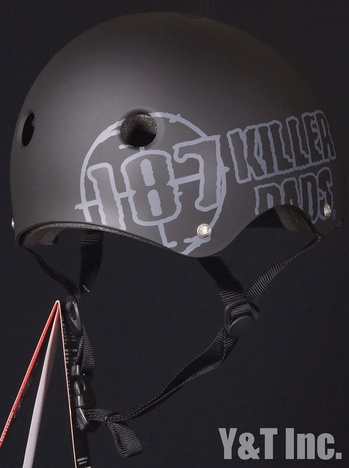 187 HELMET MATTE BLACK BIG LOGO XL 2