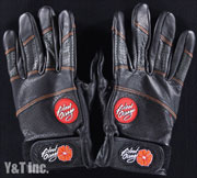 BLOOD ORANGE SLIDE GLOVES LEATHER L-XL