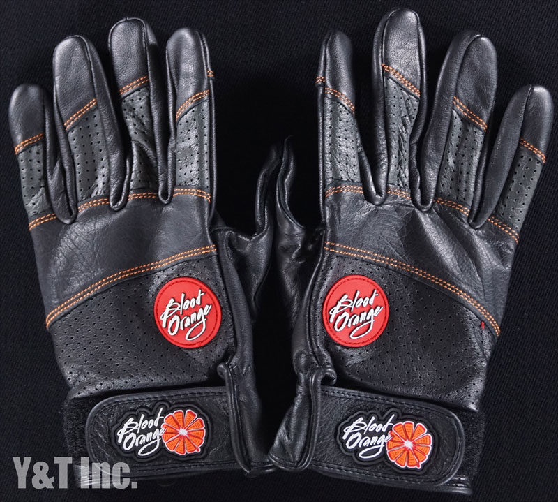 BLOOD ORANGE SLIDE GLOVES LEATHER L-XL 1