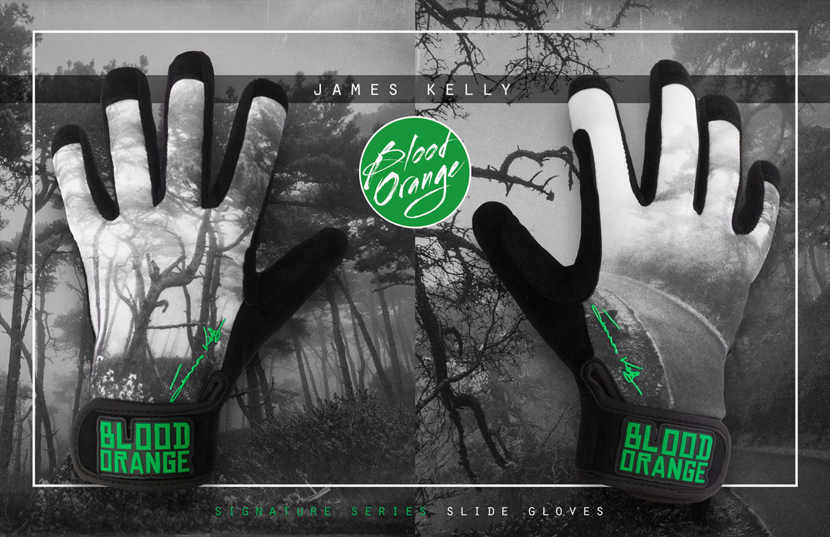 BLOOD ORANGE SILDE GLOVES JAMES KELLY S-M 1