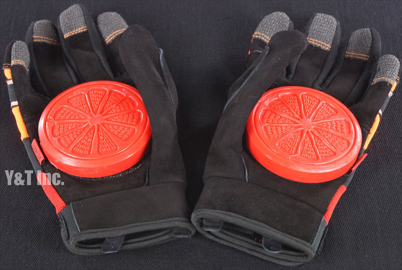 BLOOD ORANGE SLIDE GLOVES KNUCKLES S-M 1
