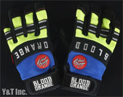 BLOOD ORANGE SLIDE GLOVES KNUCKLES Blue Neon S-M