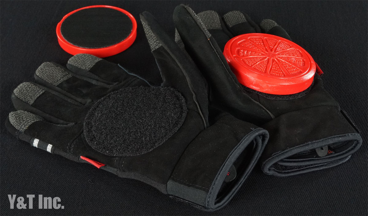 BLOOD ORANGE SLIDE GLOVES KNUCKLES Black Black L-XL 1
