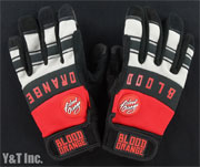 BLOOD ORANGE SLIDE GLOVES KNUCKLES RED GRAY L-XL