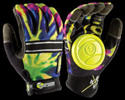 SECTOR9 BHNC SLIDE GLOVES LIMEBURST S-M