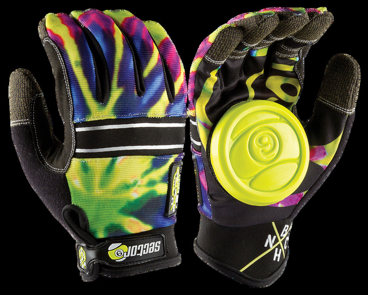 SECTOR9 BHNC SLIDE GLOVES LIMEBURST S-M 1