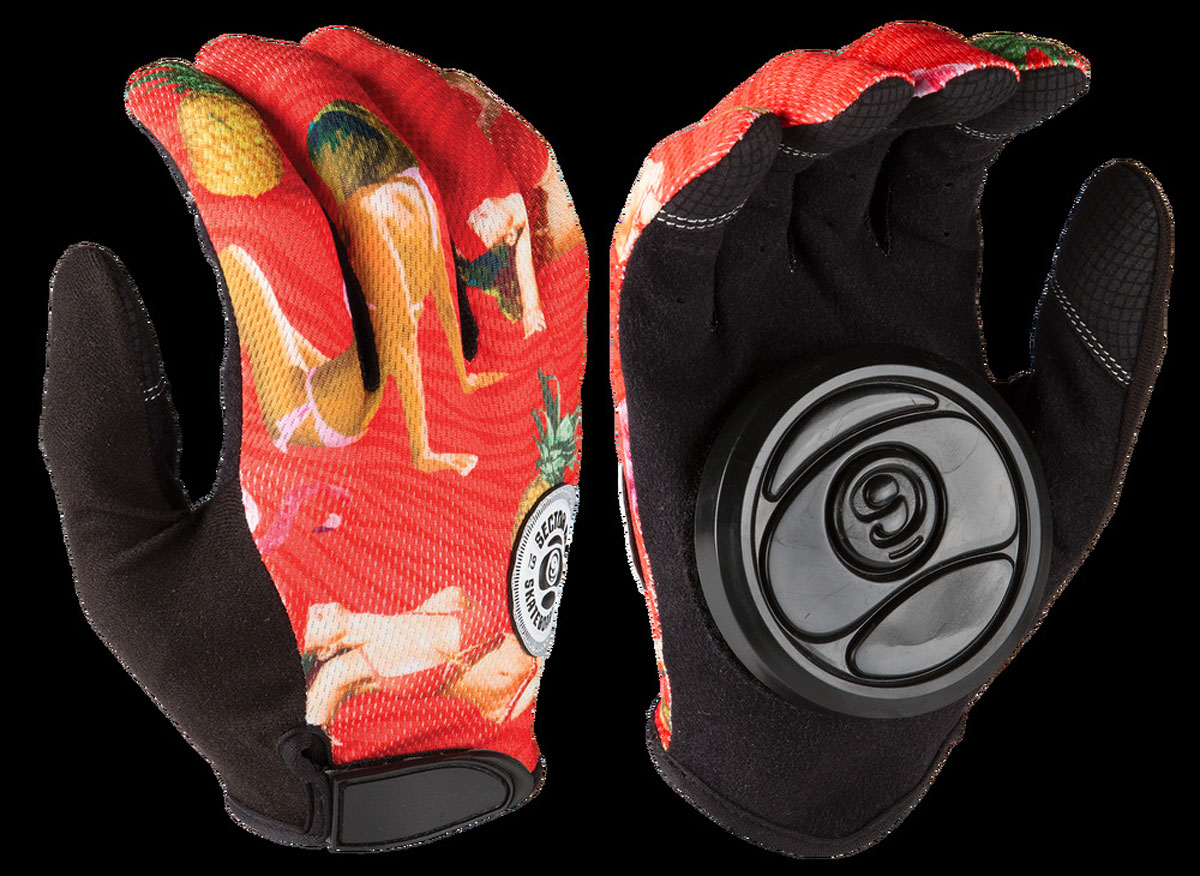 SECTOR9 RUSH SLIDE GLOVES RED S 1