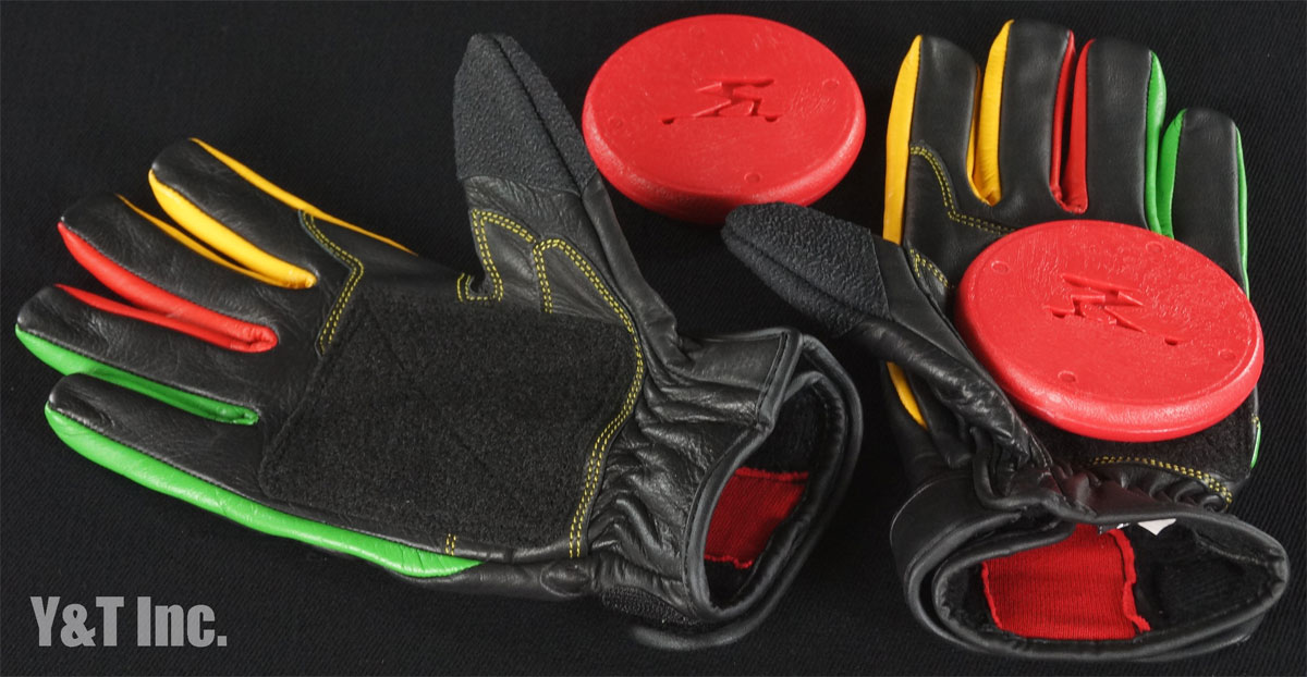 TIMESHIP RACING PRO SLIDE GLOVES RASTA L 1