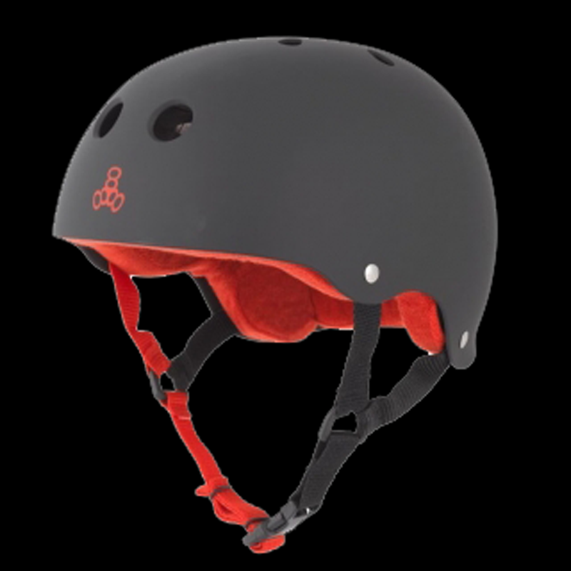 TRIPLE 8 HELMET SWEATSAVER BLACK RUBBER XXL 1