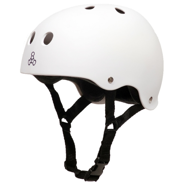 TRIPLE 8 HELMET RUBBER WHITE L 1