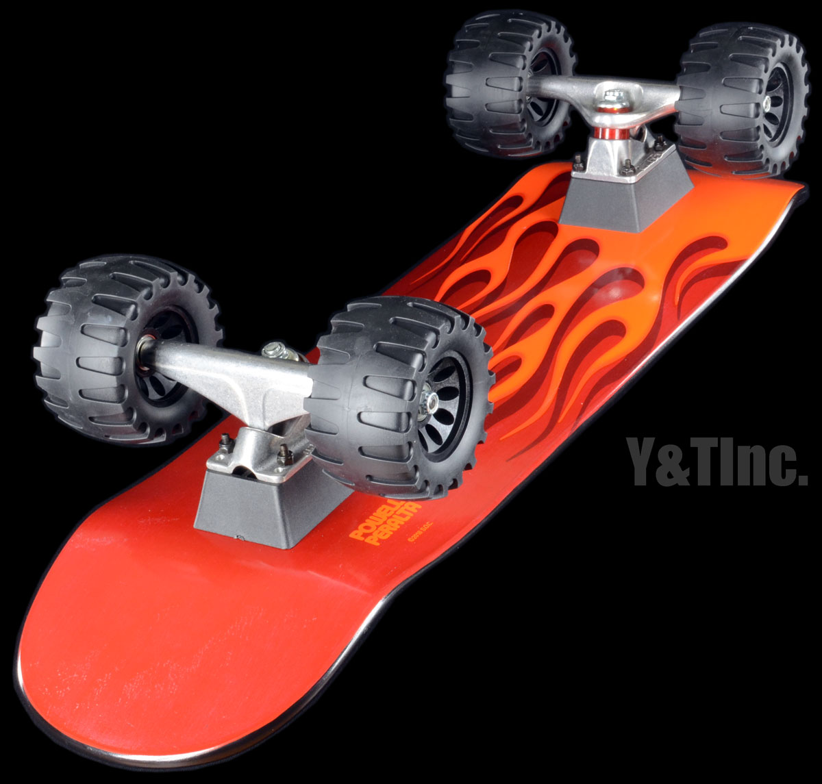 POWELL HOT ROD FLAMES ORANGE RED Tracker161 OffRoad110mm 1