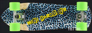 SK8KINGS MINI SHREDDER BLUE LEOPARD BENNETT RTS BIGZIG