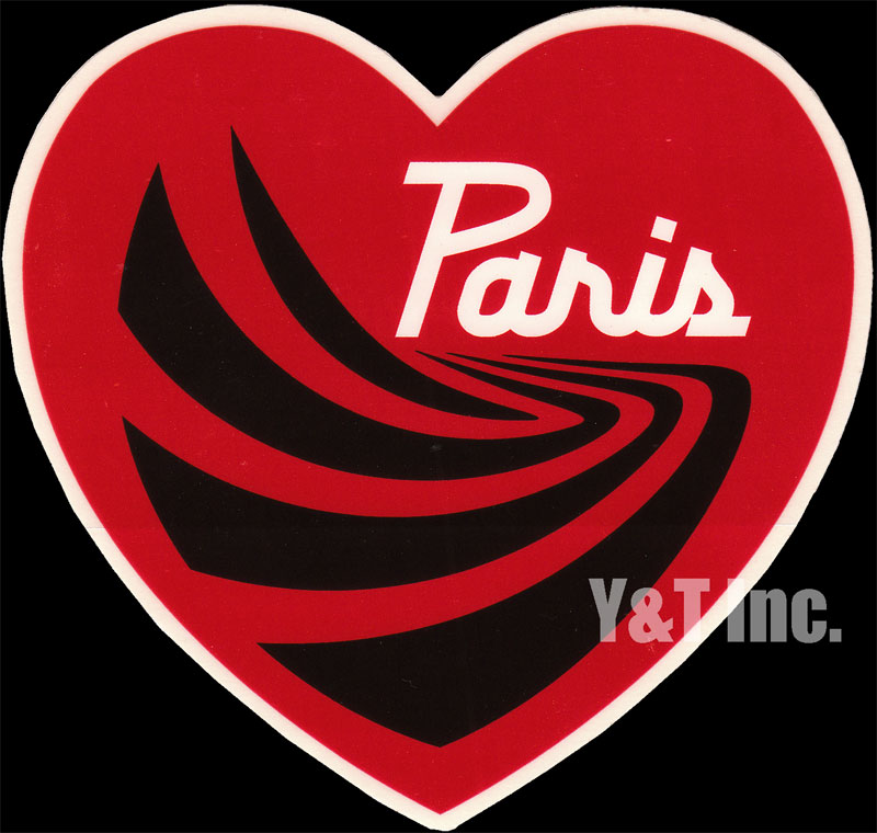 PARIS TRUCK HEART RED 120 1