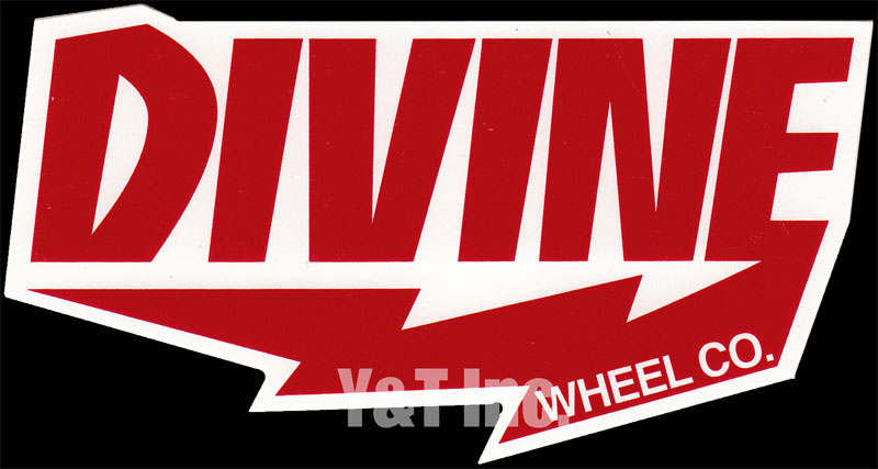 DIVINE WHEEL CO C RED TEXT 1