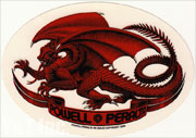 POWELL PERALTA OVAL DRAGON RED