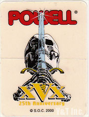 POWELL PERALTA SKULL AND SWORD 25TH