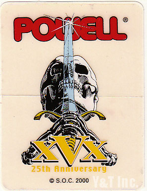 POWELL PERALTA SKULL AND SWORD 25TH 1