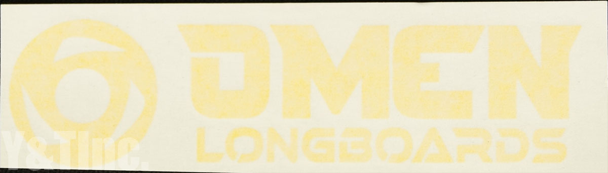 OMEN LONGBOARDS LOGO NUKI YELLOW 1