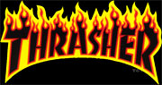 THRASHER LOGO FLAME BLACK