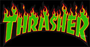 THRASHER LOGO FLAME GREEN