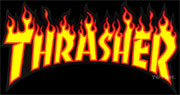 THRASHER LOGO FLAME YELLOW