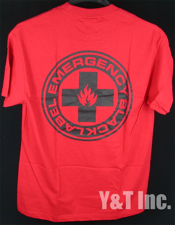 BLACK LABEL T-SHIRTS EMERGENCY RED L 2