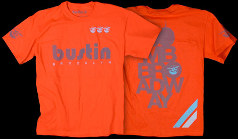 BUSTIN ORANGE TEE REFLECTIVE SAFETY S 1