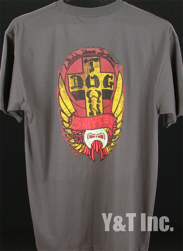 DOGTOWN T-SHIRTS BDS DESIGN GRAY L 1