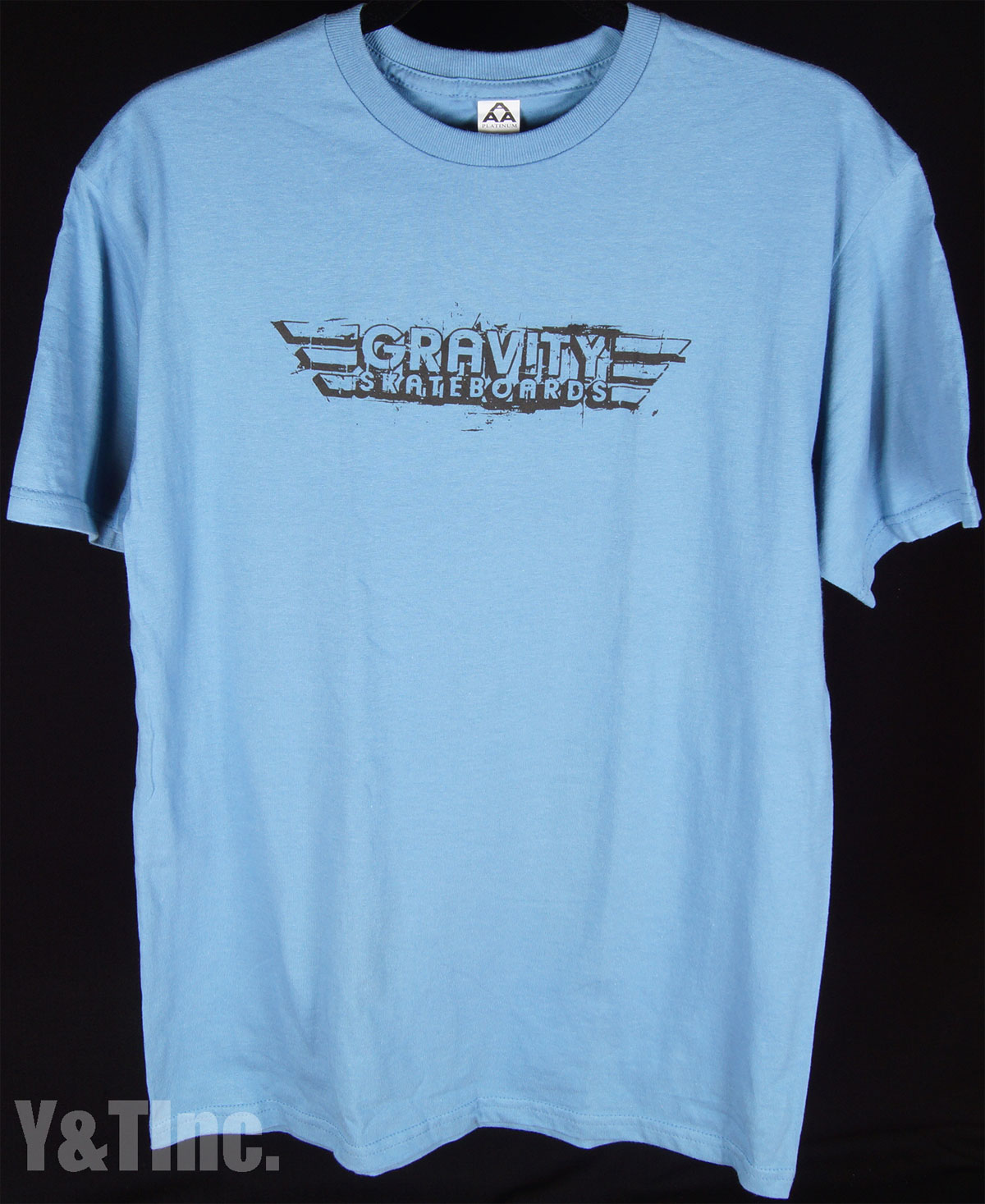 GRAVITY T-SHIRTS LIGHT BLUE M 1