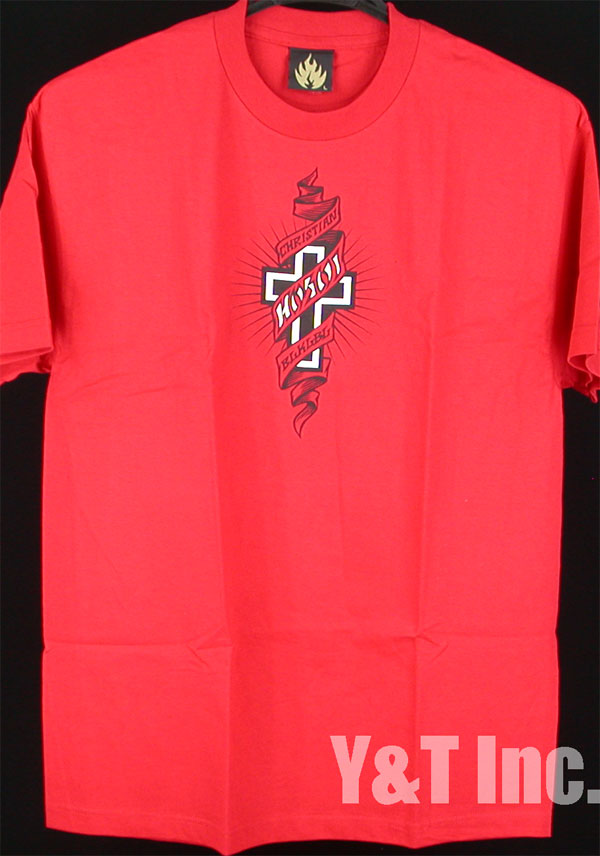 HOSOI T-SHIRTS BLACK LABEL RISE ABOVE RED L 1