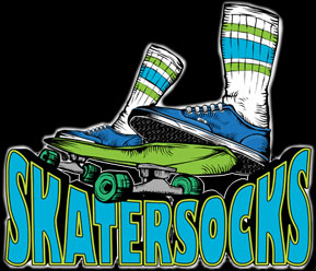 SKATER SOCKS 22 TUBE White S3 Blue 6