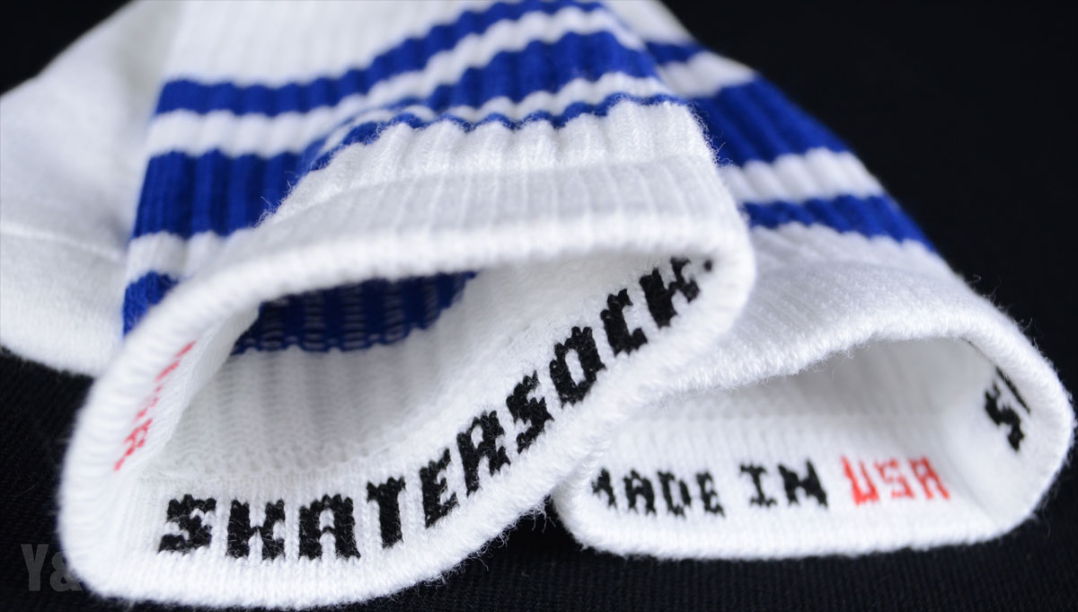 SKATER SOCKS 22 TUBE White S3 Blue 2