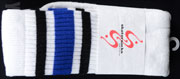 SKATER SOCKS 22 TUBE White S3 BlackBlue
