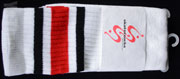 SKATER SOCKS 22 TUBE White S3 BlackRed