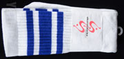 SKATER SOCKS 22 TUBE White S3 Blue