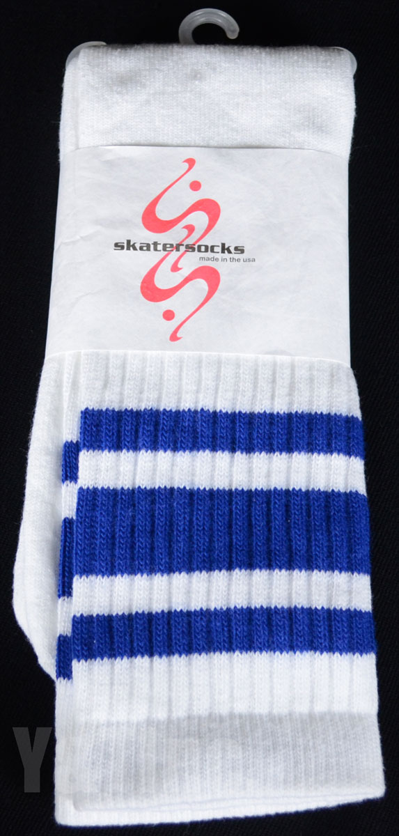 SKATER SOCKS 22 TUBE White S3 Blue 1