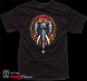 POWELL VALLELY ELEPHANT T-SHRT BLACK M