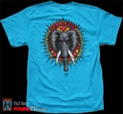POWELL VALLELY ELEPHANT T-SHRT BLUE M