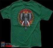 POWELL VALLELY ELEPHANT T-SHRT GREEN M