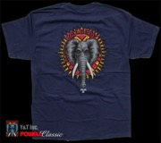 POWELL VALLELY ELEPHANT T-SHRT NAVY M