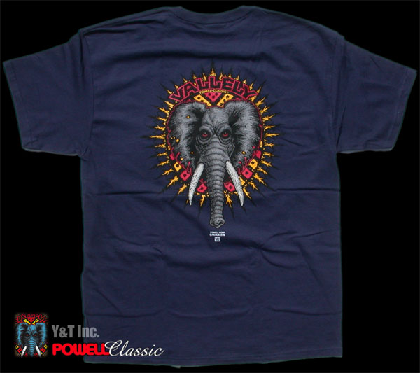 POWELL VALLELY ELEPHANT T-SHRT NAVY M 1